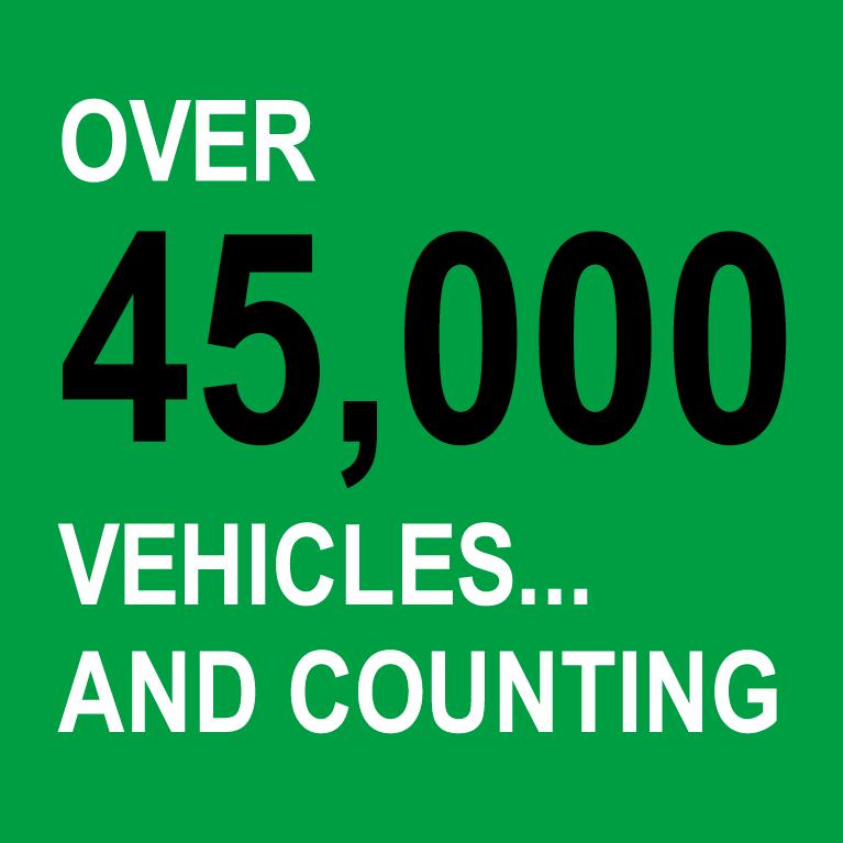 45,000 vehicles