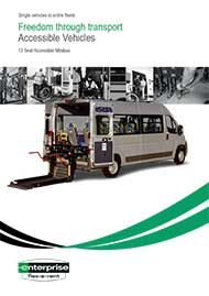 Accessible 13 Seat Minibus – 3 Wheelchairs
