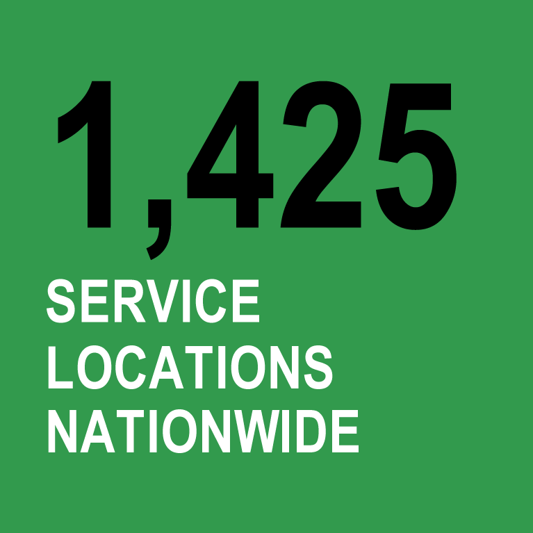 1,425 service locations nationwide