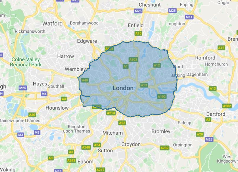 London ULEZ map