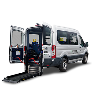9-seat wheelchair accessible minibus