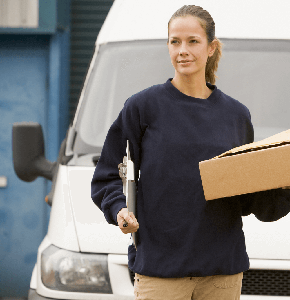 Picture of a woman delivery driver