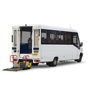 Coach-built 17-seat accessible minibus