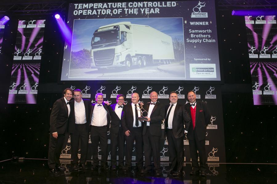 Samworth Brothers Supply Chain Celebrate Winning Enterprise Flex-E-Rent sponsored award