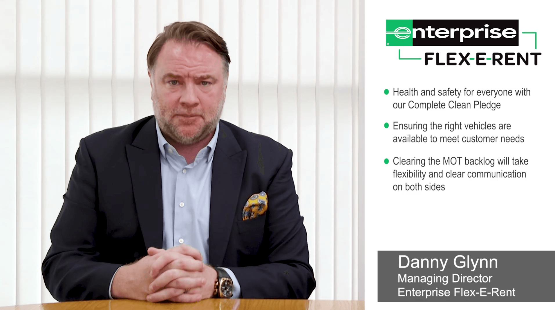 Danny Glynn, Managing Director of Enterprise Flex-E-Rent - August update